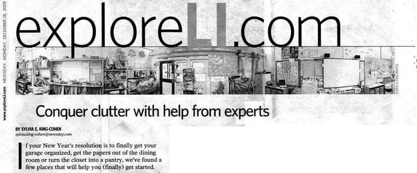 Newsday 2009, Conquer clutter with help from experts