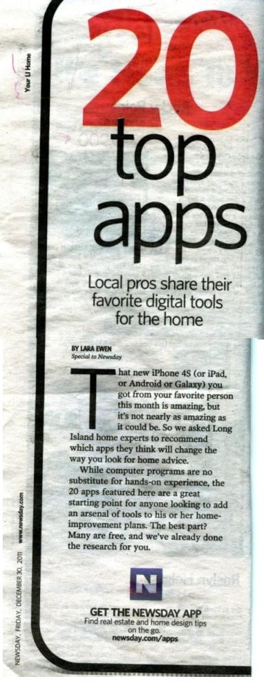 newsday 2011 20 top apps