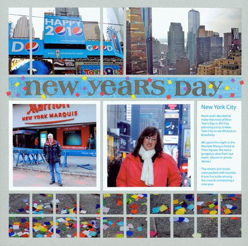 scrapbook new year